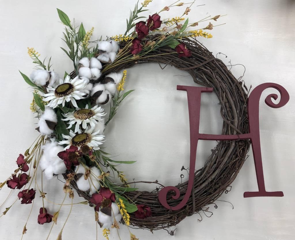 Seasonal Custom Wreath Class (Group Party)