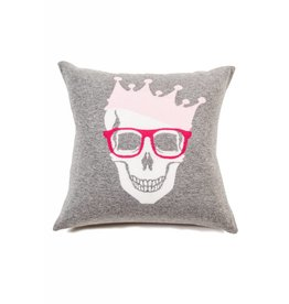 Rani Arabella Skull Crown Cashmere Pillow
