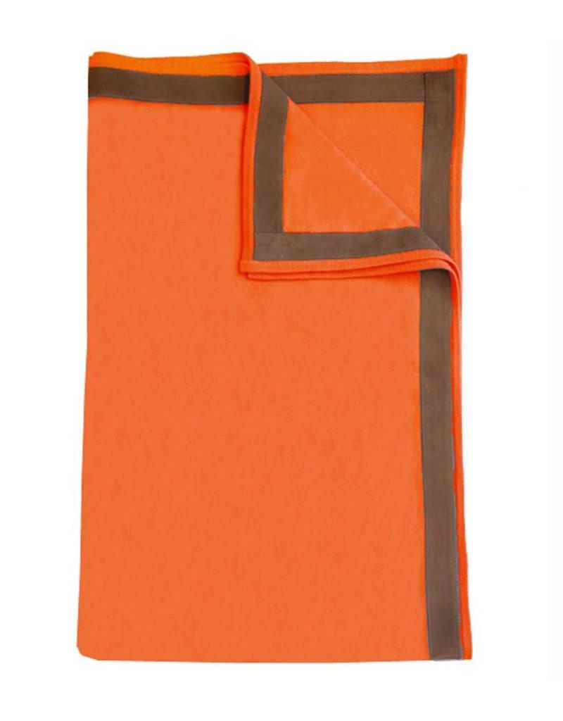 Rani Arabella Palermo Cashmere Throw - Charcoal, Pearl, Sand & Orange