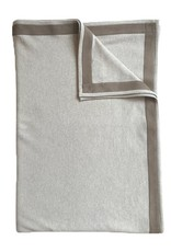 Rani Arabella Palermo Cashmere Throw - Charcoal, Pearl, Sand & Orange