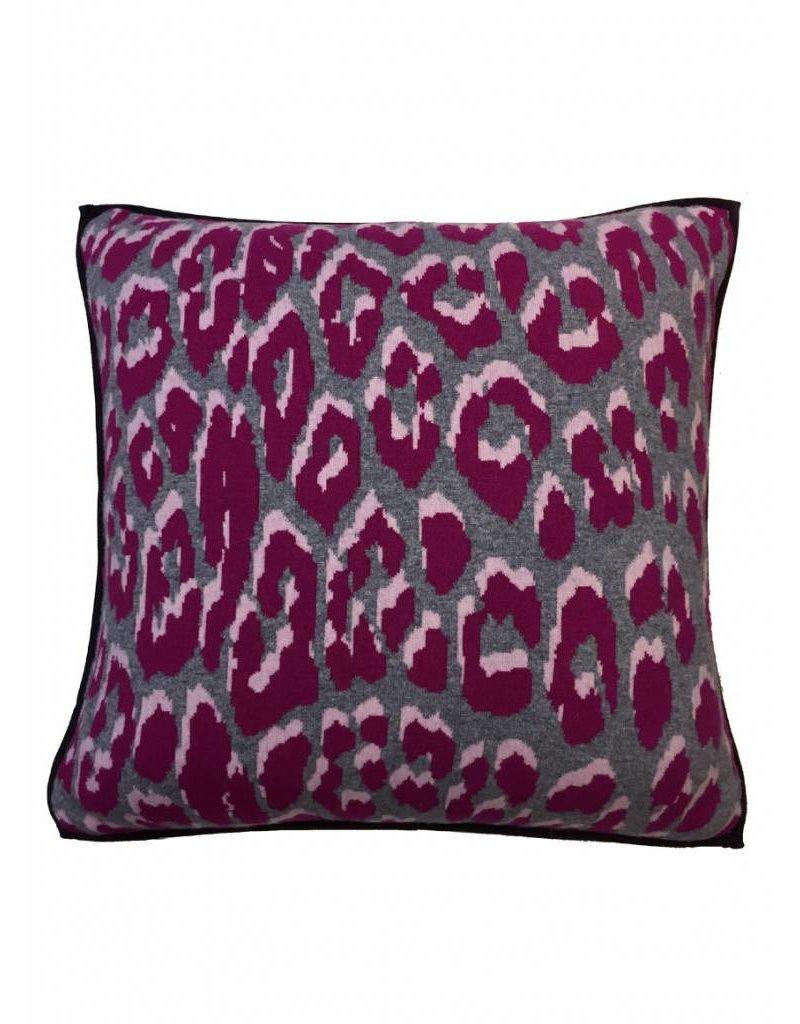 Rani Arabella Leo Cashmere Pillow - Pink & Terra