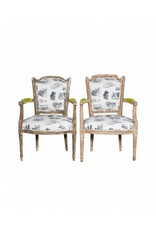 Janet Gust Lax Chairs (Pair Only)