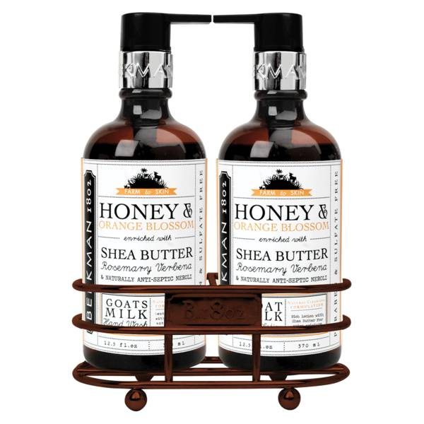 Beekman 1802 Honey & Orange Blossom Caddy Set