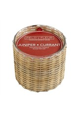 Hillhouse Juniper Currant 2 Wick Handwoven Candle 12oz.