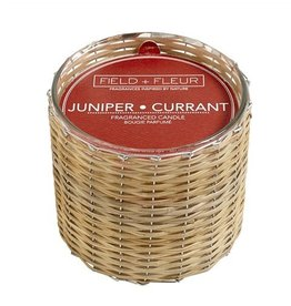 Hillhouse Juniper Currant 2 Wick Handwoven Candle 12oz.
