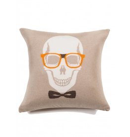 Rani Arabella Skull Bow Pillow