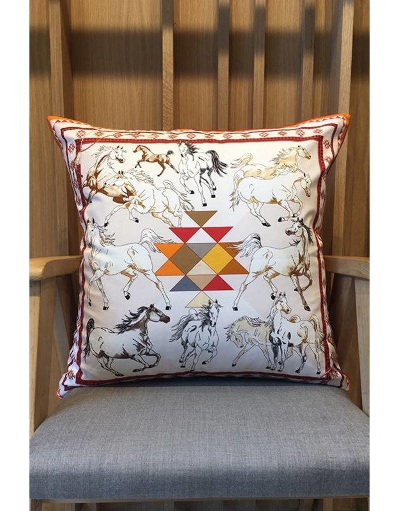 Rani Arabella Aztec Cotton Orange Pillow