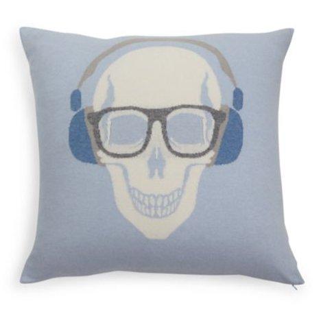 Rani Arabella Skull Headphones Cashmere Pillow