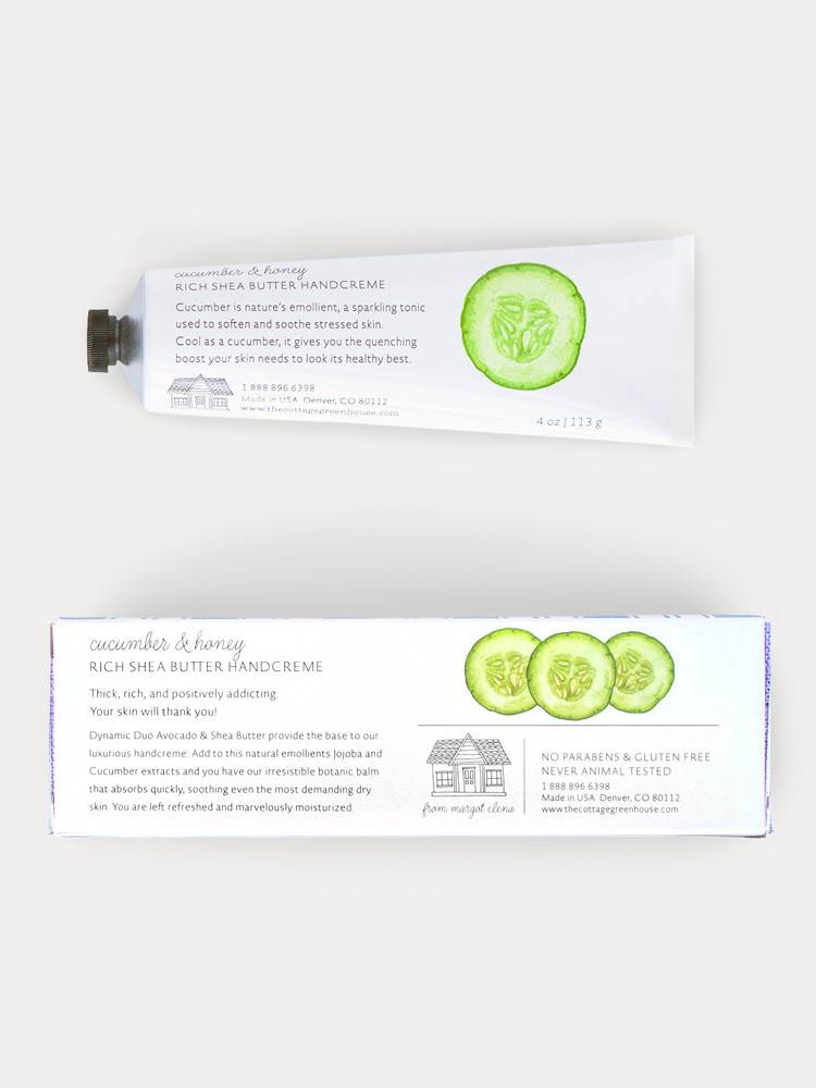 The Cottage Greenhouse Cucumber & Honey Shea Butter Handcreme
