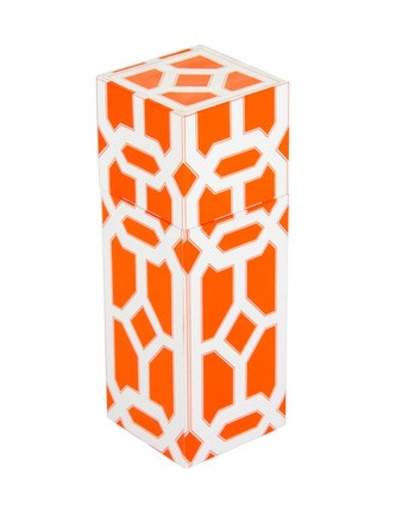 The Joy of Light Orange Lattice Matchbox