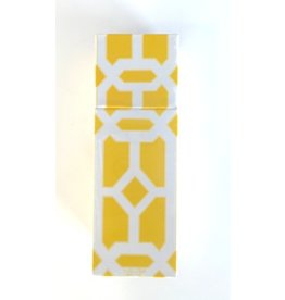 The Joy of Light Yellow Lattice Matchbox