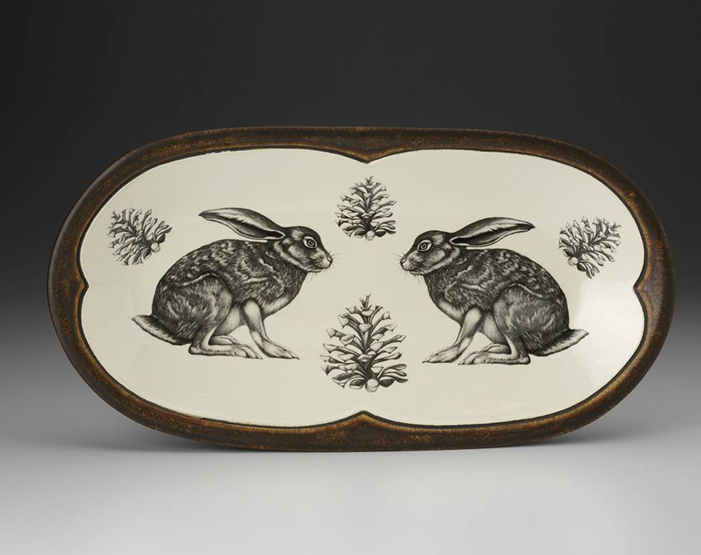 Laura Zindel Design Rectangular Single Dish Hare