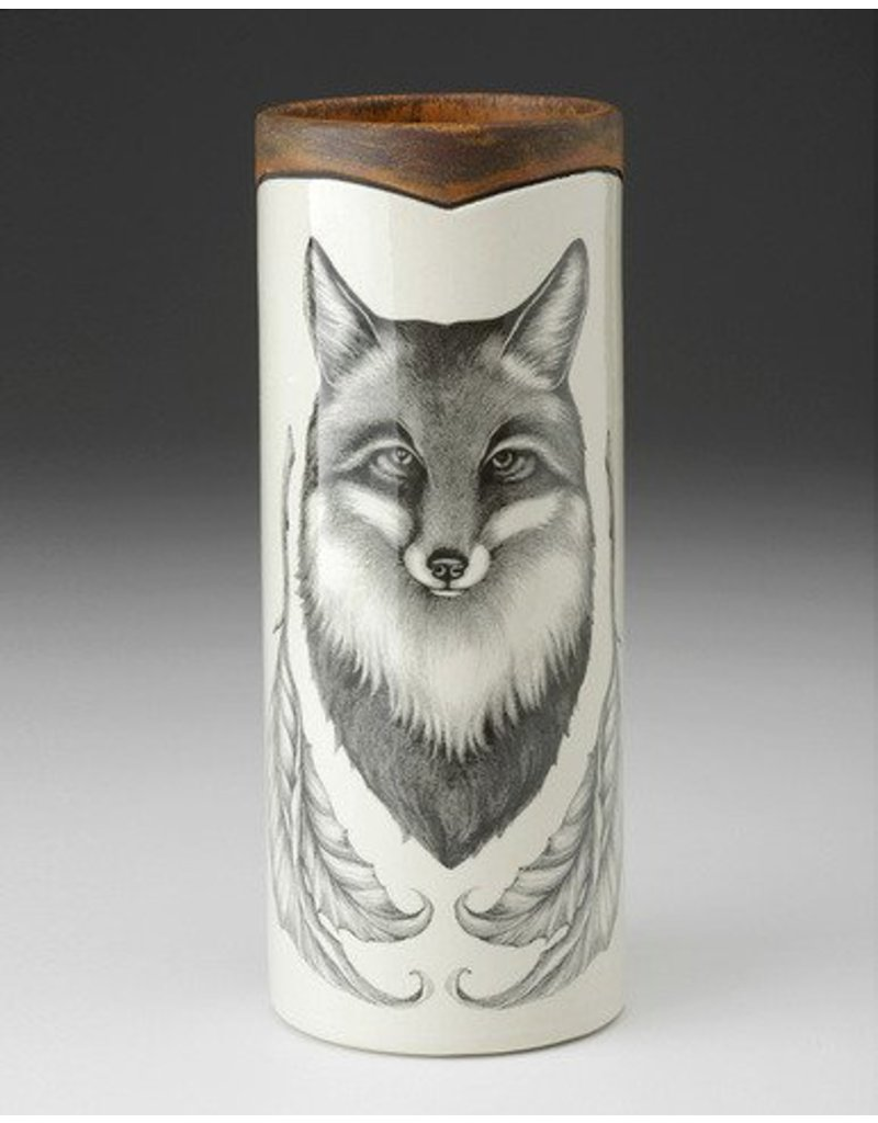 Laura Zindel Design Small Vase: Fox Portrait