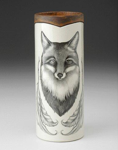 Laura Zindel Design Small Vase: Fox Portrait