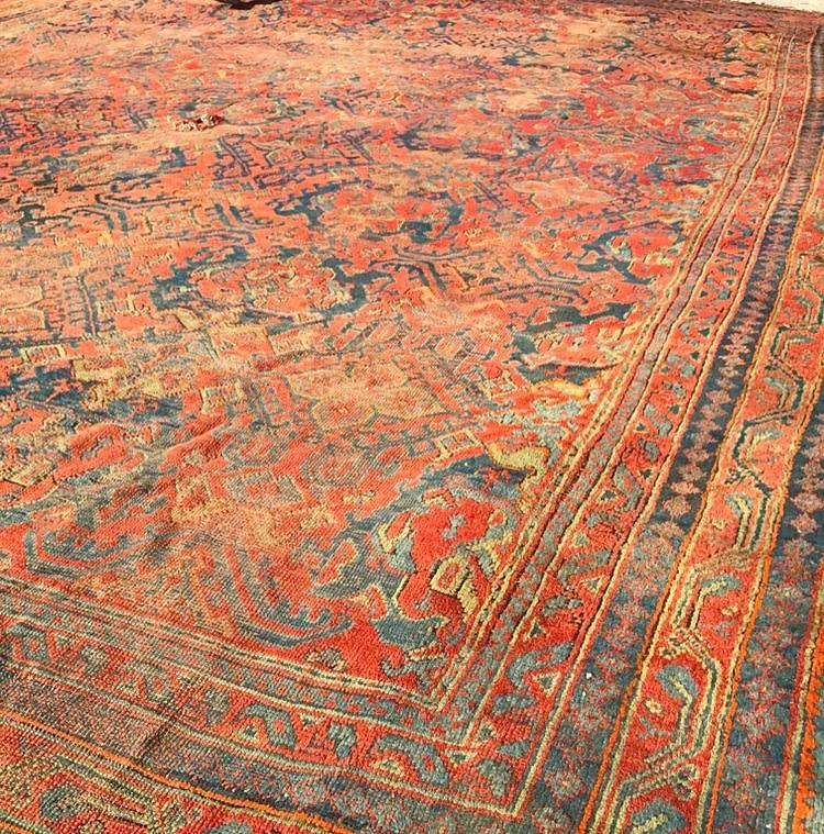 """1900s Palace-Size Oushak - 16' x 20'11"""""""