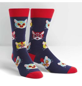 Sock It To Me Men's Crew Gato Libre