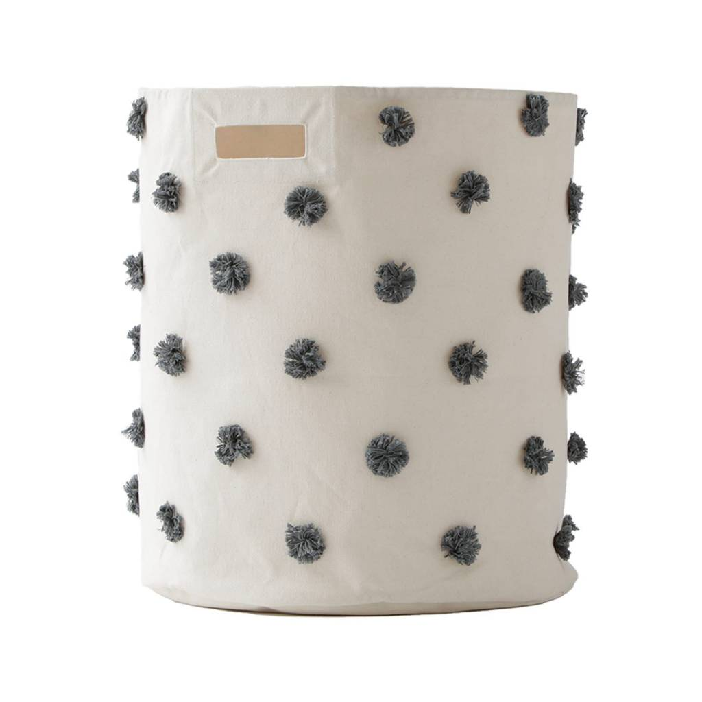 Pehr Designs Pom Pom Hamper Charcoal