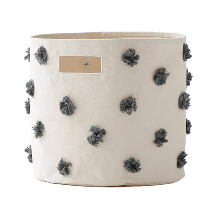 Pehr Designs Pom Pom Bin Charcoal