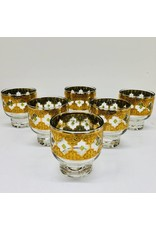 Mid Century Valencia Lowball Pedestal Glasses