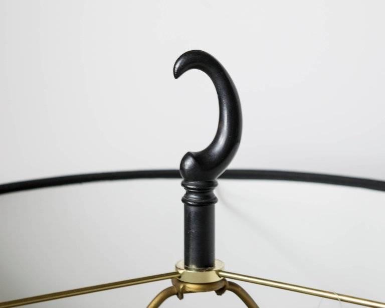 PAIR: Black Enamel/Bras Amoeba Shape Lamps