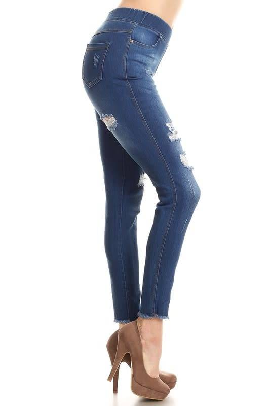 Frayed Distressed Jeggings