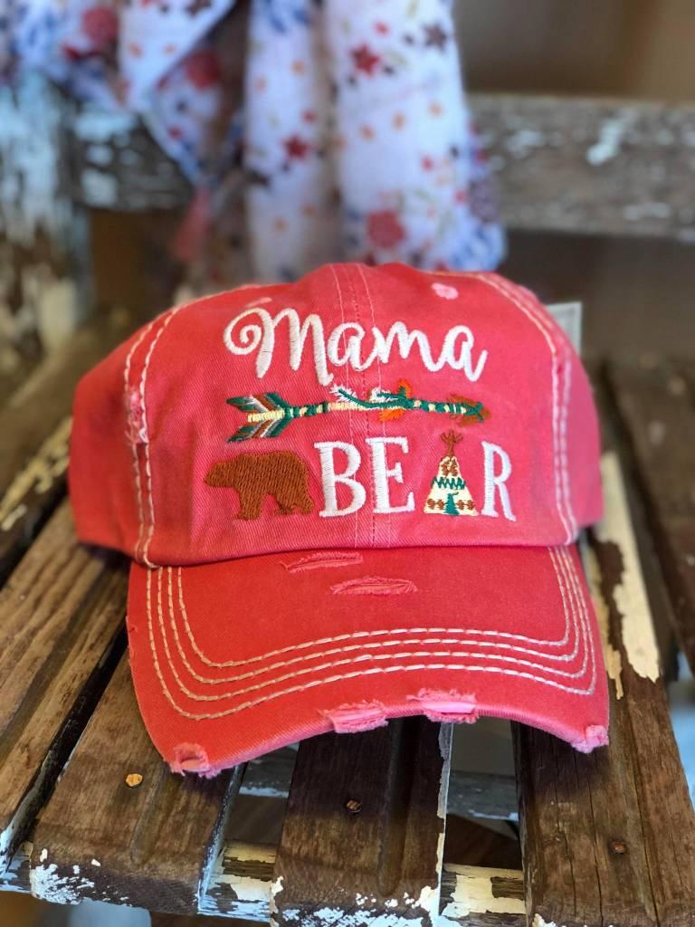 Distressed Mama Bear Cap