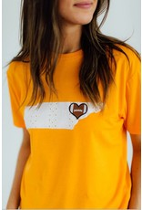 Football Love Eyelet TN Tee