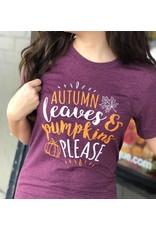 Leaves & Pumpkin Tee