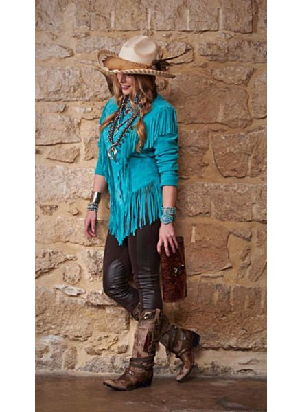 CRIPPLE CREEK SUEDE JACKET WITH FRINGE