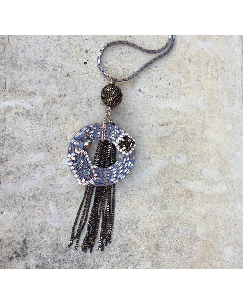 THEIA LONG MEDALLION NECKLACE