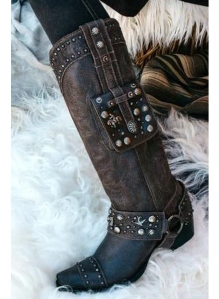 BENITEZ BIKER BOOT DESIGNED FOR DOUBLE D RANCHWEAR