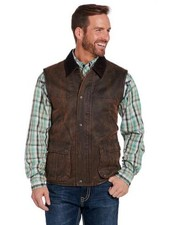 CRIPPLE CREEK ENZYNE WASHED VEST WITH CONCEALED CARRY POCKET