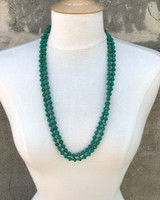 NATIVE AMERICAN JEWERLY / OLD PAWN @ ORISONS DOUBLE STRAND YAZZIE TURQUOISE NECKLACE