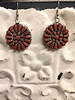NATIVE AMERICAN JEWERLY / OLD PAWN @ ORISONS   CORAL  EARRINGS