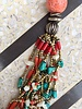 NATIVE AMERICAN JEWERLY / OLD PAWN @ ORISONS TIBETAN RAW TURQUOISE CORAL NECKLACE
