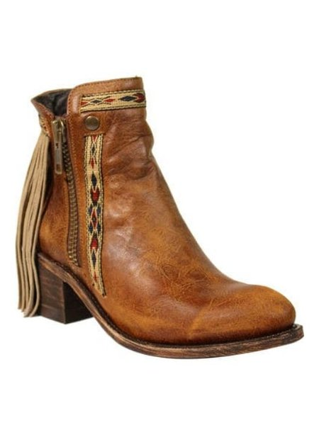 CORRAL FRINGES BOOT W/ ZIPPER