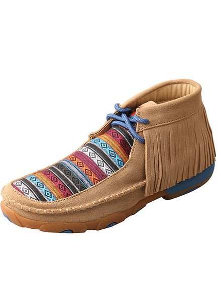 TWISTED X SERAPE AND FRINGED MOCCASIN
