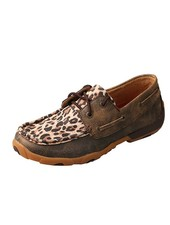 TWISTED X DRIVING MOCCASIN -DISTRESSED LEOPARD
