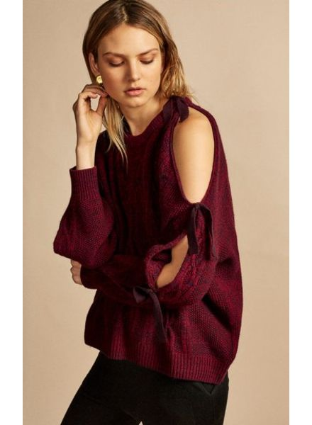 NAADAM ALCHEMY CASHMERE COLD SHOULDER SWEATER