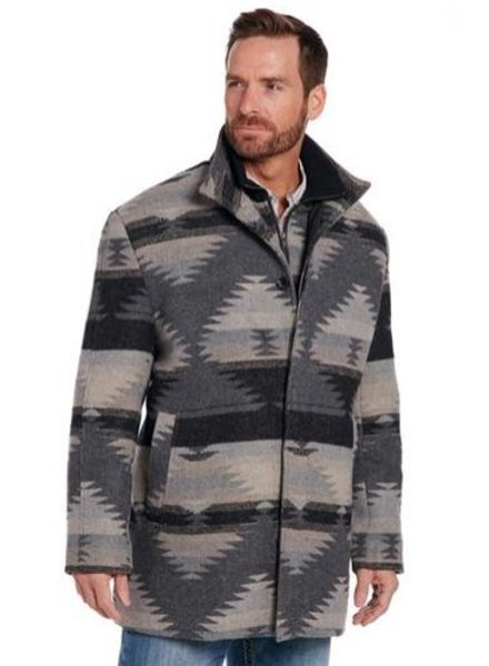 CRIPPLE CREEK NAVAJO BLANKET ZIP FRONT JACKET