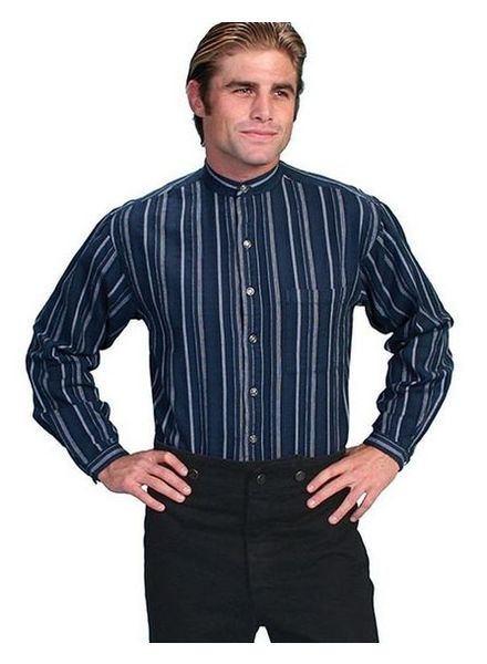 SCULLY WESTERN SHIRT W/ BANDED COLLAR