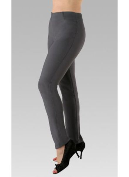 GRETCHEN PULL ON PANT IN CHARCOAL BY PK MAKS