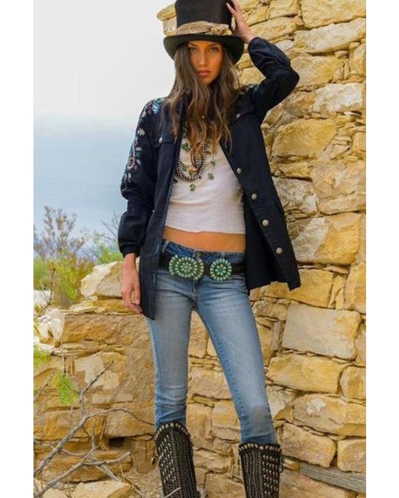 DOUBLE D RANCHWEAR SAQUI CONCHO BELT BY DOUBLE D RANCHWEAR