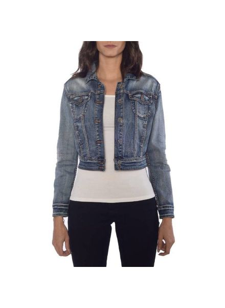RUBBERBAND STRETCH VIVIENNE STRETCH JEAN JACKET BY RUBBER BAND