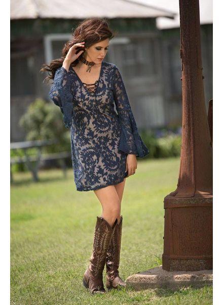BRONTE AZURE DRESS IN NAVY BY BRONTE