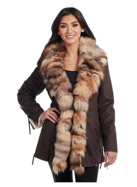 CRIPPLE CREEK FAUX FUR SHEARLING JACKET BY CRIPPLE CREEK