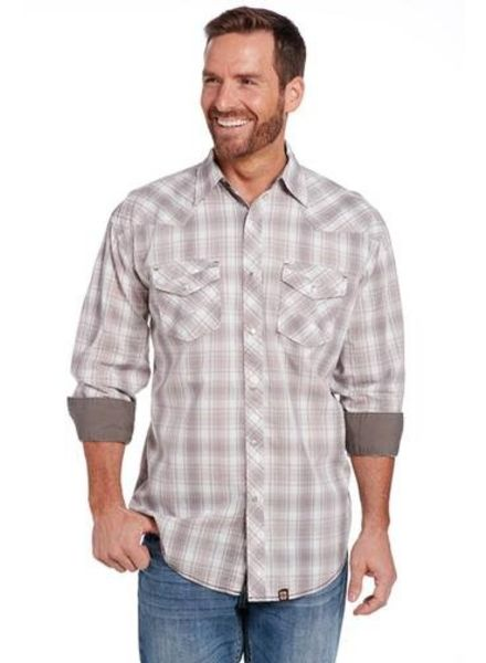 CRIPPLE CREEK LONG SLEEVE ENZYME WASH WOVEN SHIRT