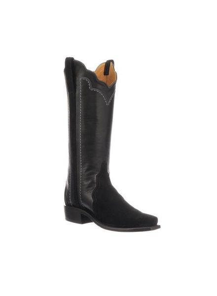 LUCCHESE SHANNON BLACK SUEDE BOOT