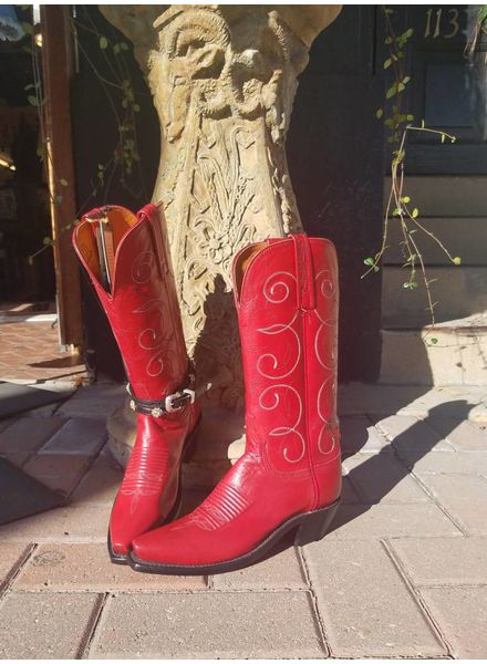 LUCCHESE ORISON COWGIRL BOOT IN RED