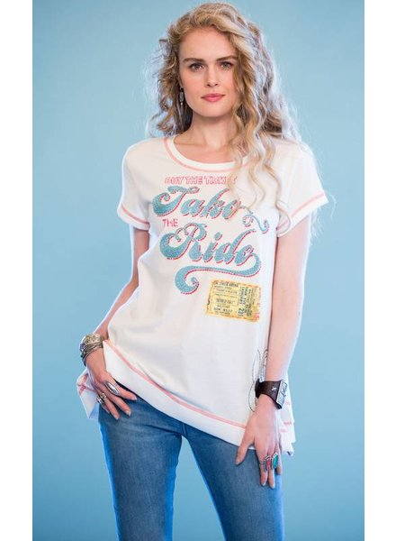 DOUBLE D RANCHWEAR TAKE THE RIDE TEE
